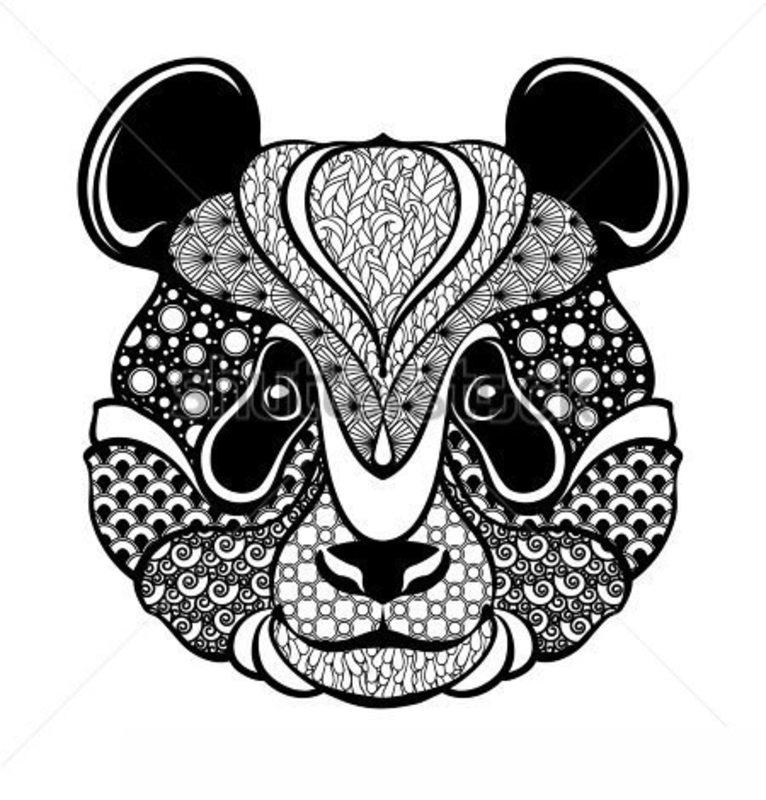 Ausmalbilder Mandala Panda