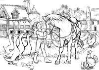 Ausmalbilder Gratis Ausdrucken Pferde Pferde