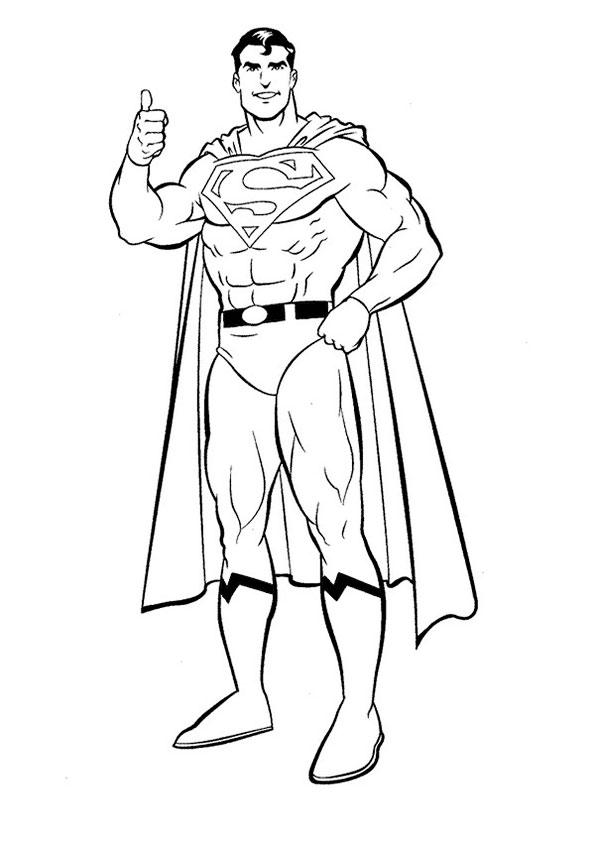 Superman-5 Ausmalbilder gratis