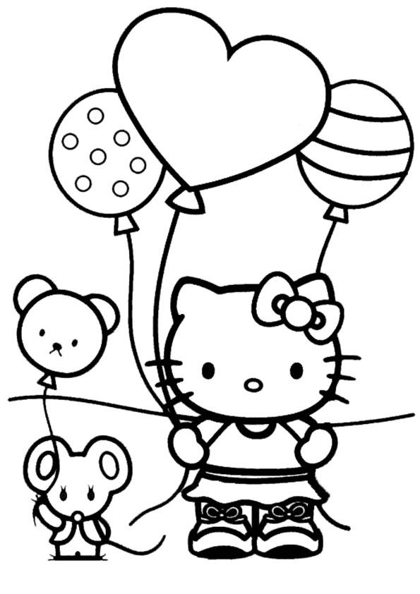 Ausmalbilder Geburstag Hello kitty-10 Ausmalbilder Hello