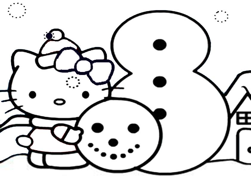 Ausmalbilder weihnachten hello kitty-27 Ausmalbilder