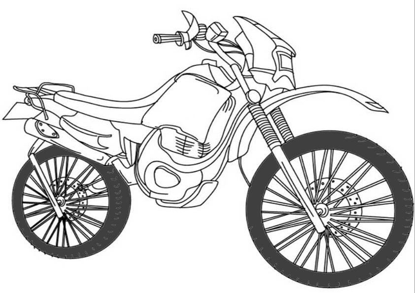 ausmalbilder kinder motorrad4  ausmalbilder für kinder