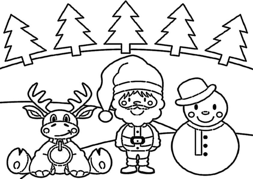 Weihnachten-11 Ausmalbilder für Kinder