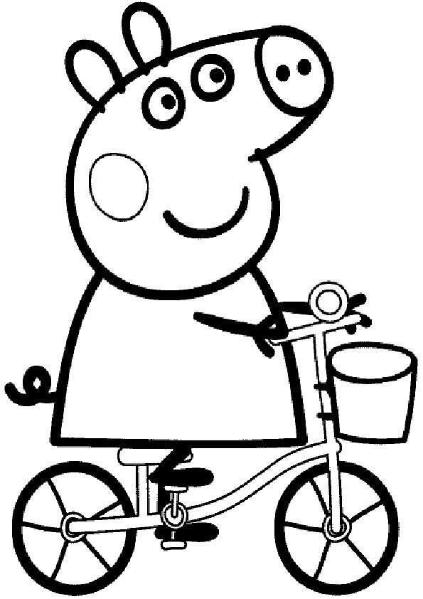 Ausmalbilder Peppa Pig-5 Ausmalbilder Kostenlos