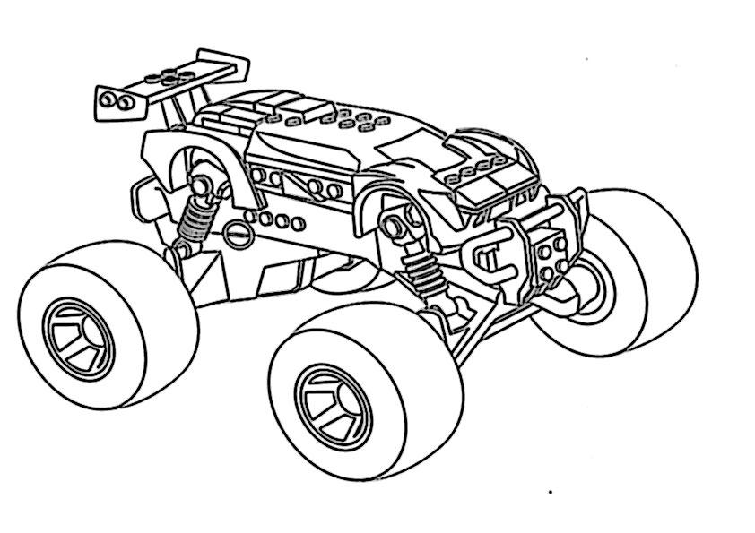 Ausmalbilder kostenlos monster truck -10 Ausmalbilder