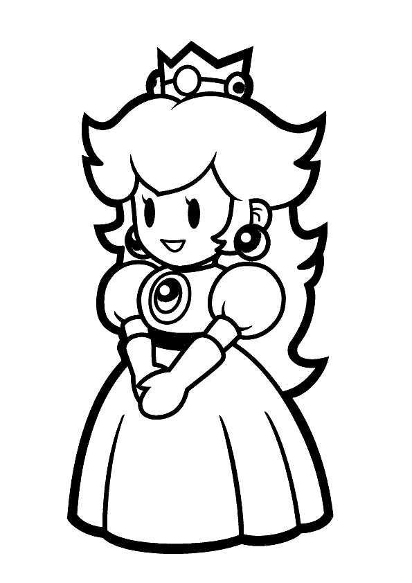 Dibujo De Mario Bros Princesa Daisy Para Colorear Dibujos