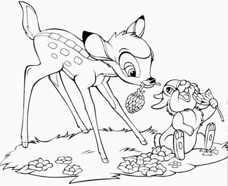 Bambi Clipart Colouring Page Auto Electrical Wiring Diagram