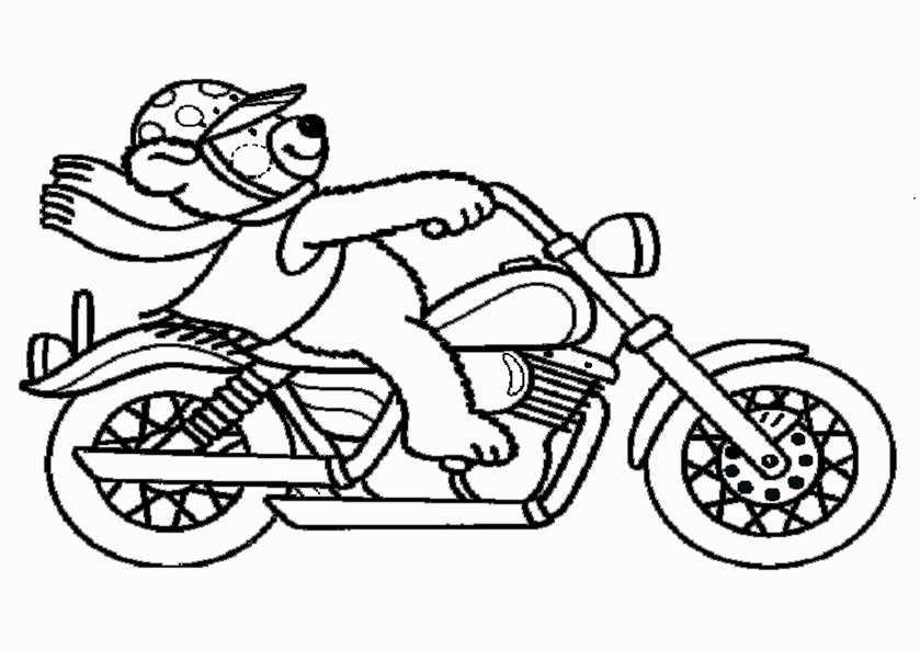 Ausmalbilder Motorrad 3 Ausmalbilder Kostenlos