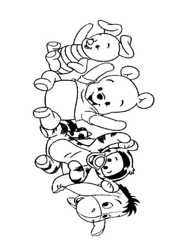 Ausmalbilder kostenlos Winnie Pooh Baby 4 Ausmalbilder