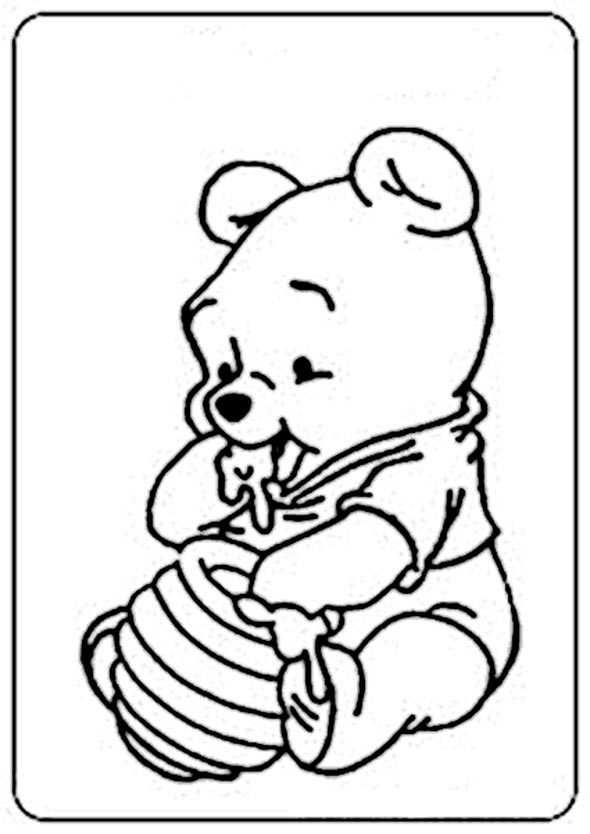 Ausmalbilder kostenlos Winnie Pooh Baby 12 Ausmalbilder