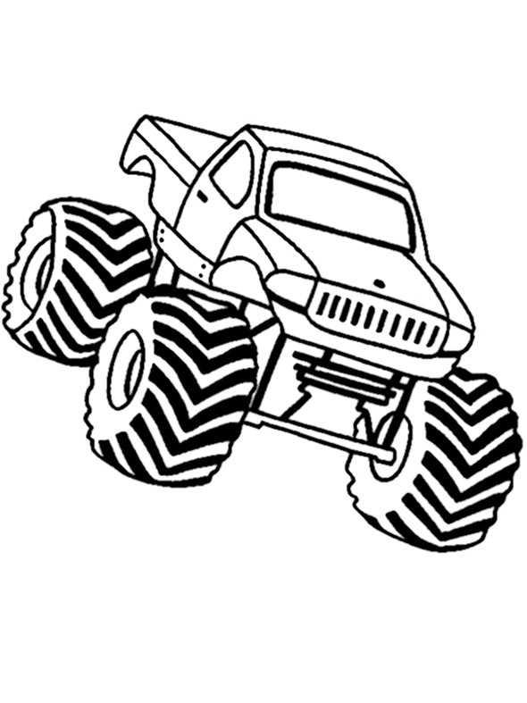Ausmalbilder kostenlos Monster Truck 4 Ausmalbilder