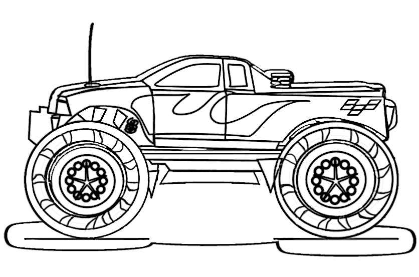 Ausmalbilder kostenlos Monster Truck 5  Ausmalbilder