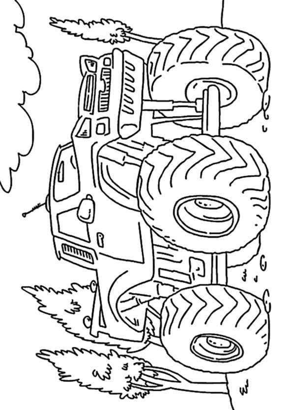 Ausmalbilder kostenlos Monster Truck 9 Ausmalbilder