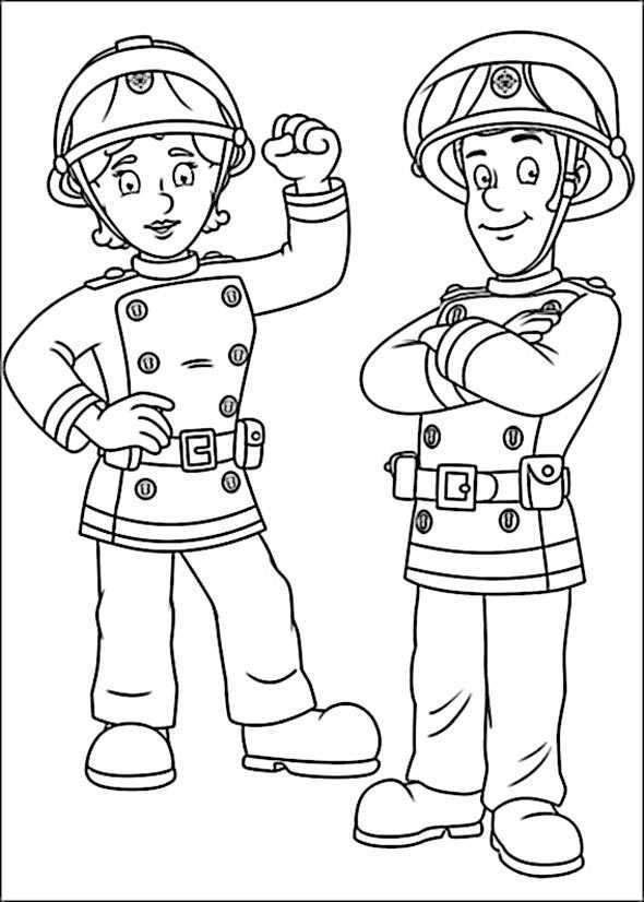 Malvorlage Feuerwehrmann Sam Weihnachten