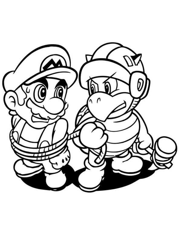 Ausmalbilder kostenlos Mario 4 Ausmalbilder Kostenlos