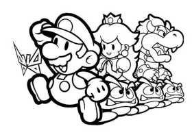 Ausmalbilder kostenlos Mario 5   Ausmalbilder Kostenlos