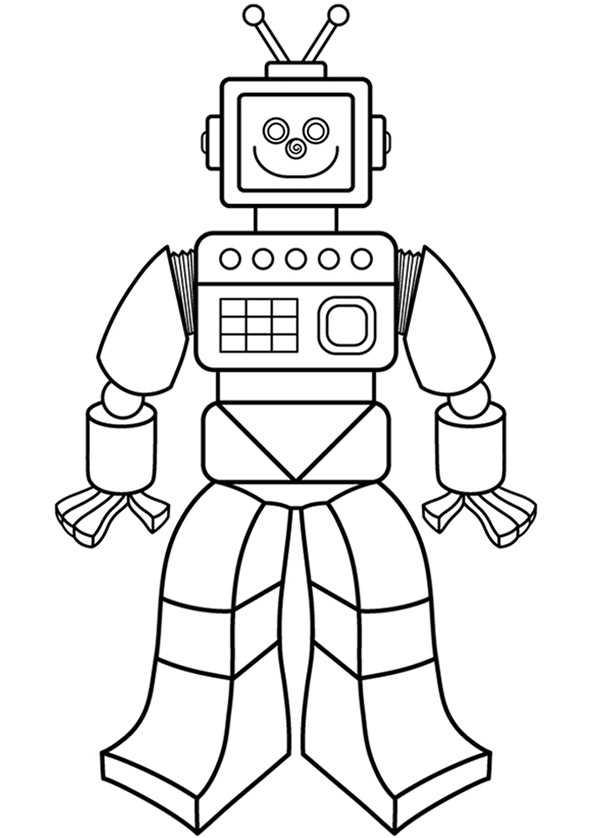 ausmalbilder coole roboter  kostenlos zum ausdrucken