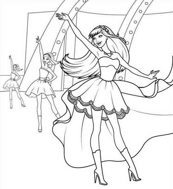 Ballerina (2) Ausmalbilder Kostenlos