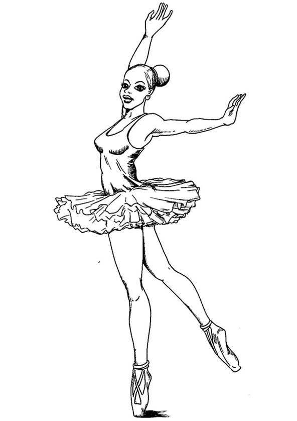 Ballerina (6) Ausmalbilder Kostenlos