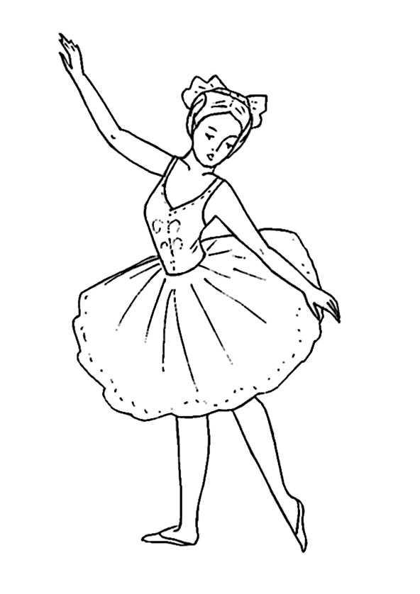 Kleurplaat Barbie Ballet Ballett 5 Ausmalbilder