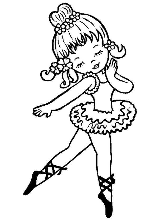Ballerina (8) Ausmalbilder Kostenlos