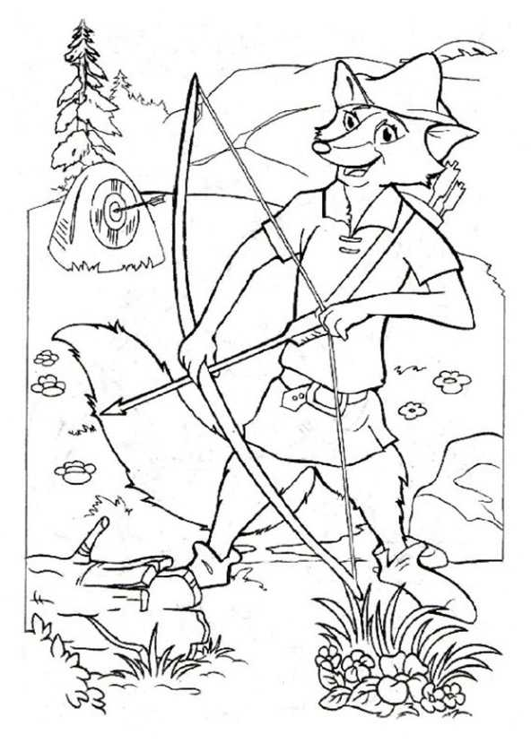 Robin Hood 13 Ausmalbilder Kostenlos