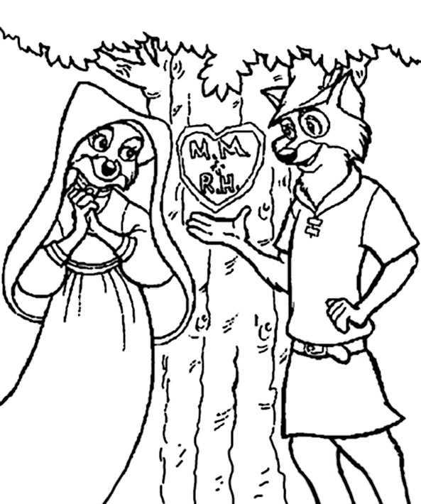 Robin Hood 16 Ausmalbilder Kostenlos