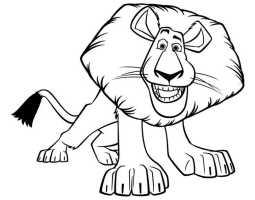 Löwe 15   Ausmalbilder Kostenlos