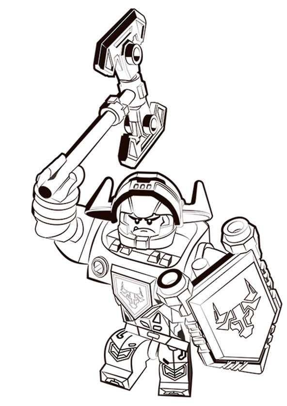 Nexo Knights 17 Ausmalbilder Kostenlos