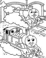 Thomas Lokomotive 3   Ausmalbilder Kostenlos