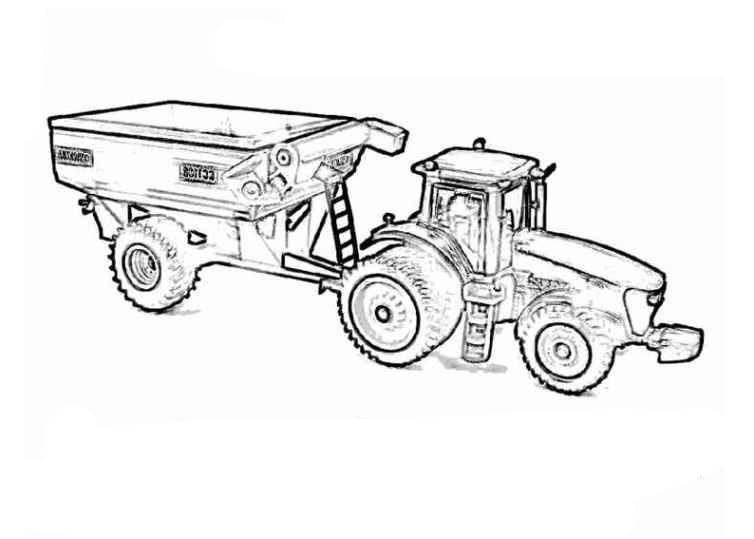Bilder Zum Ausmalen Traktor Mit Anhänger
