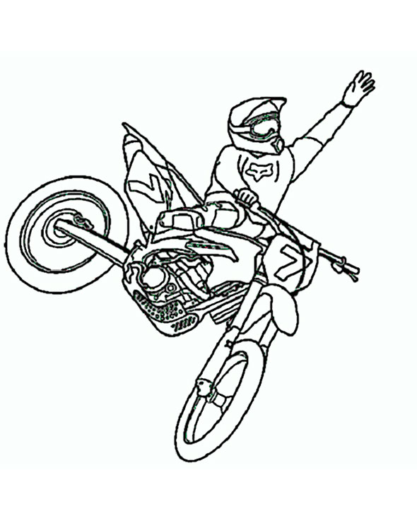 motorrad (7)  ausmalbilder top