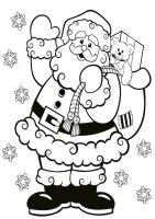 Weihnachtsmann 24   Ausmalbilder Weihnachten