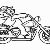 Motorrad 1   Ausmalbilder zum ausdrucken