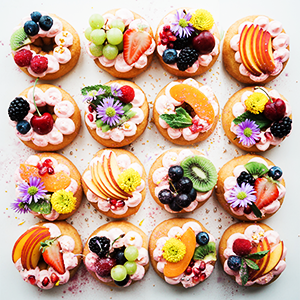 a plate of tarts