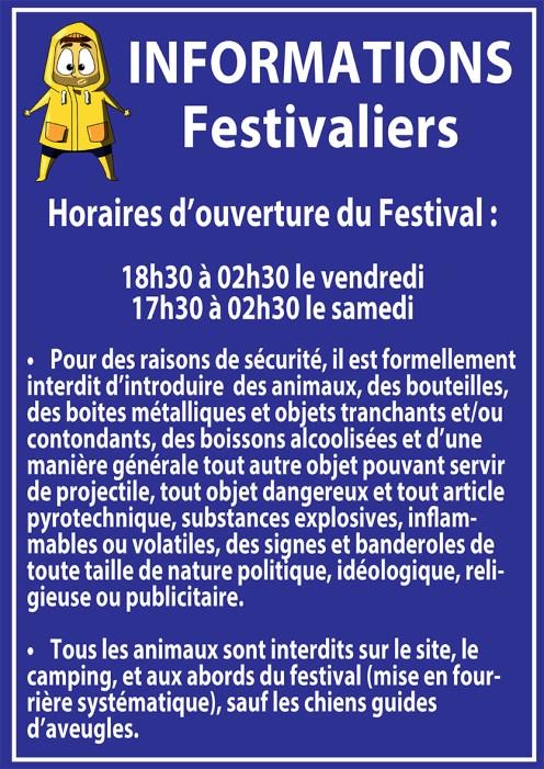 Réglement Festival