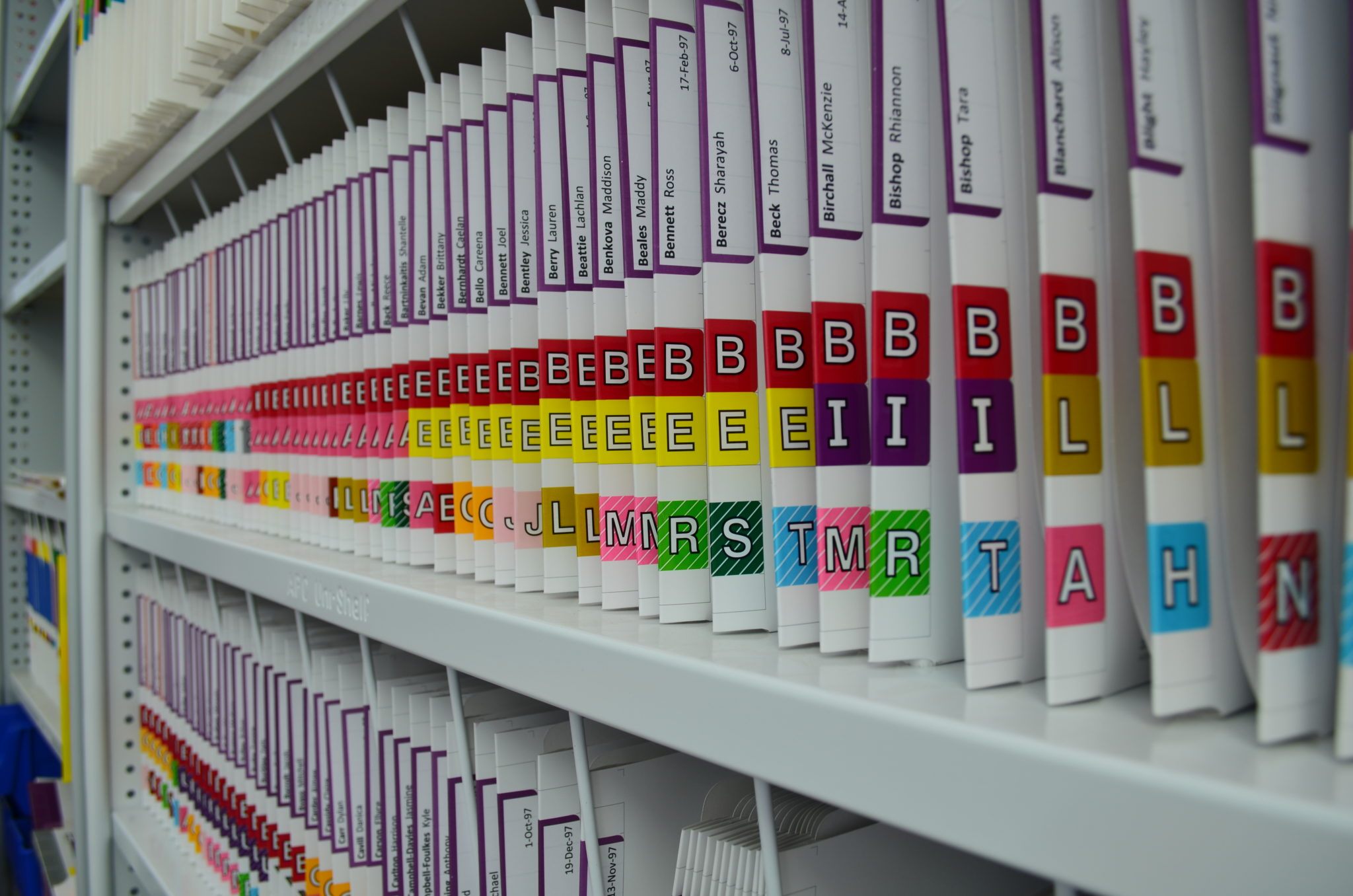 Colour coded labelling makes your filing system easier to use.