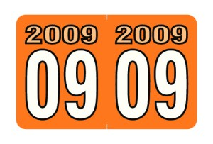 2009 Year Labels
