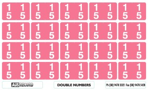 Double Number Labels. 15. Pink