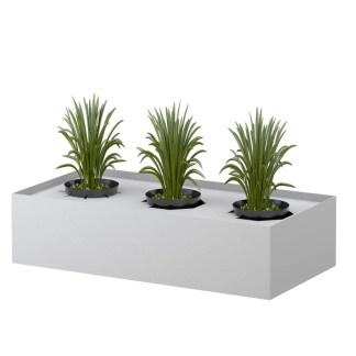 STEELCO Planter Box - 225H x 915W x 463D White Satin