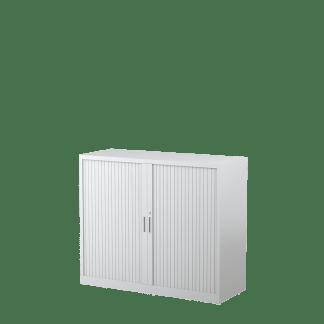 STEELCO Tambour Door Cabinet 1015H x 1200W x 463D - 2 Shelves-WS