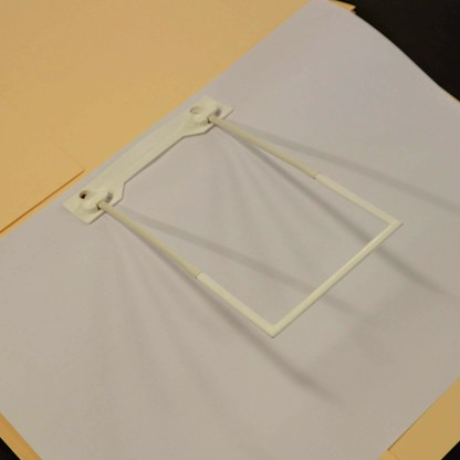 mediclip medical clip in file folder with paper