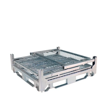 Pallet Cage Type A Single Medium Mesh Floor Zinc Plated all sides down