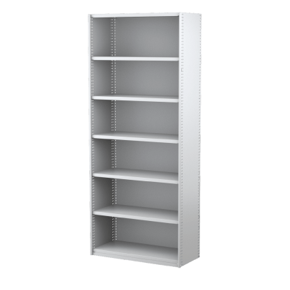 Ausrecord Steel Bookcase Shelving Starter Bay 900mm Wide White
