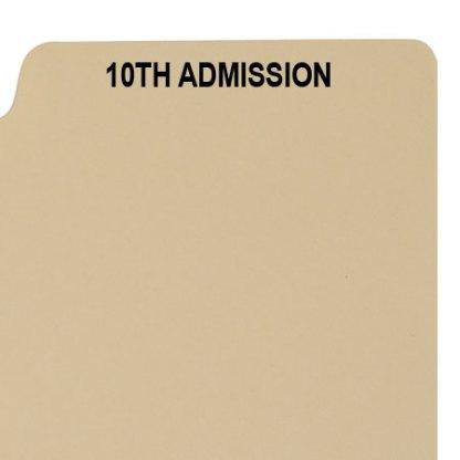 10th admission divider buff manilla