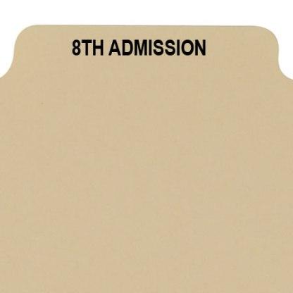 8th admission divider buff manilla