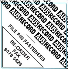 ausrecord file pin fasteners
