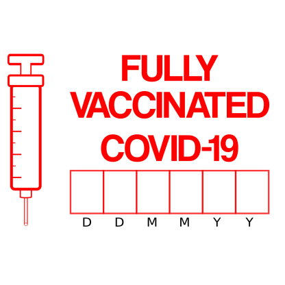 fully covid vaccinated label with date field