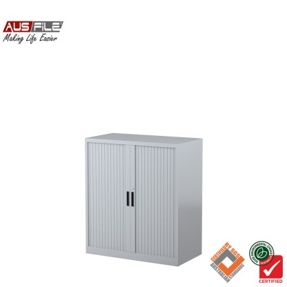 Ausfile tambour door cabinets silver grey 1020mm H x 900mm W