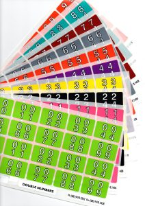 double number series full set stickers labels filing